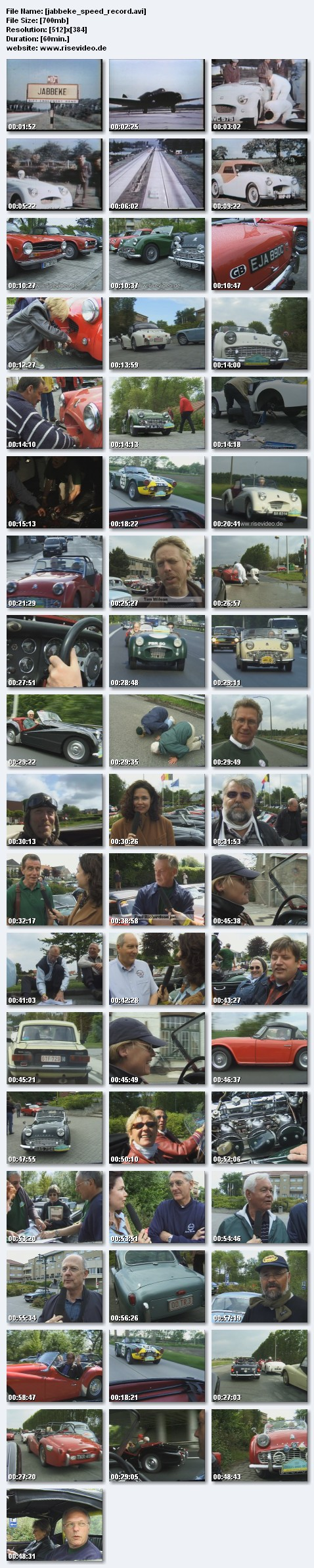 Classic car speed record in jabbeke belgium   triumph tr olditmers preview 0